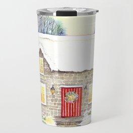 Snowy Cottage Travel Mug