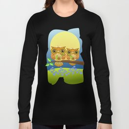 Spring owls on a sunny day Long Sleeve T-shirt