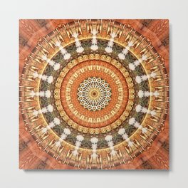 Mandala thankfulness Metal Print
