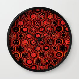 Lava Hex Wall Clock