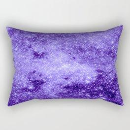 Lavender Galaxy Sparkle Stars Rectangular Pillow
