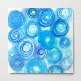 Blue Circles Metal Print