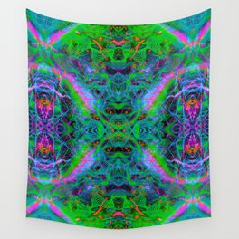 Techno Electric IV (Ultraviolet) Wall Tapestry