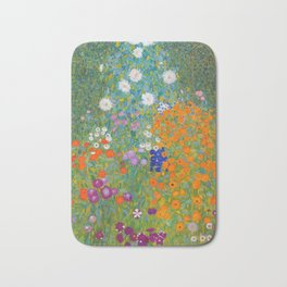 Gustav Klimt - Flower Garden Bath Mat