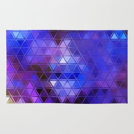 ultra violet and blue triangles Rug