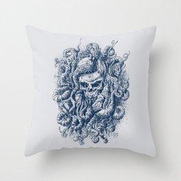 Mermaid Skull 2 Throw Pillow