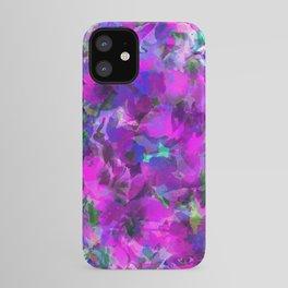 Purple Jungle Poppies iPhone Case