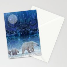 Arctic Journey of Polar Bears Stationery Cards