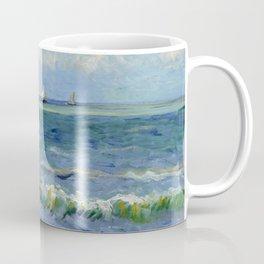 """Vincent Van Gogh """"The Sea at Les Saintes-Maries-de-la-Mer"""" Coffee Mug"""