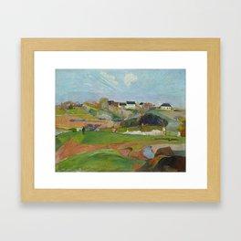 Paul Gauguin - Landscape at Le Pouldu Framed Art Print