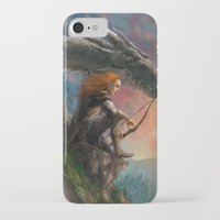 guardians iPhone & iPod Cases featuring Guardians by Rita Fei