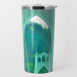 St. Johns Bridge Portland Oregon Travel Mug