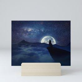lonely wolf Mini Art Print