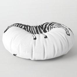 Zebra Illustration (Watercolor) Floor Pillow