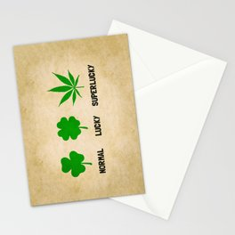 Cannabis / Hemp / Shamrock - Super Lucky mode Stationery Cards