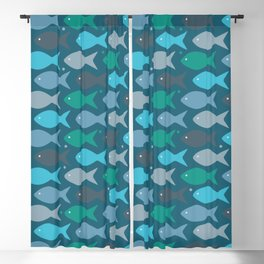 fish pattern Blackout Curtain