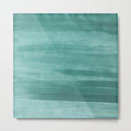 Emerald Green Watercolor Wash Metal Print