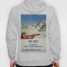 Vintage poster - Ski Italy Hoody