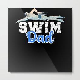 Swim Dad Metal Print