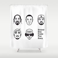 west coast Shower Curtains featuring West Coast Legends by Michael Walchalk