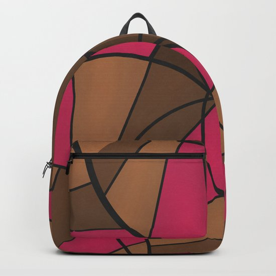 Brown pink pattern abstract . Backpack