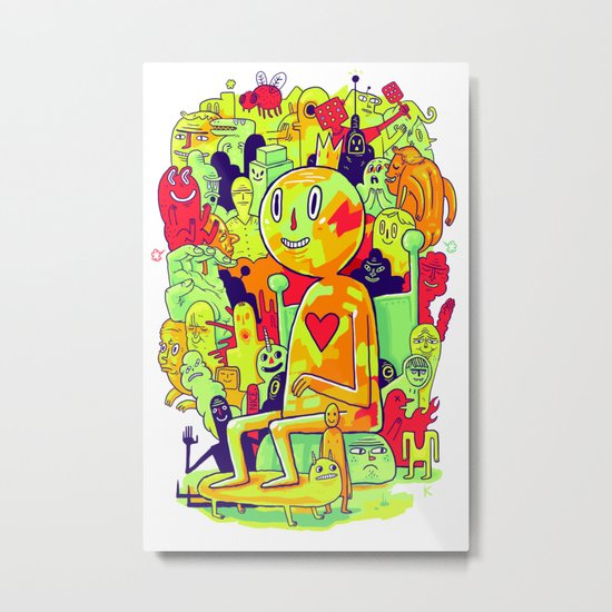 Knee-Jerk Metal Print
