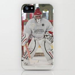 Brandon F. Ottenbacher - Starting Goaltender: Honey Badgers iPhone Case