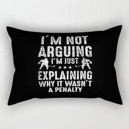 Discuss Hockey Rectangular Pillow