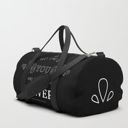 No One Is You & That Is Your Power - Quote (White On Black) Duffle Bag