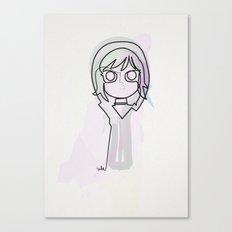 One Line Ramona Flowers Canvas Print