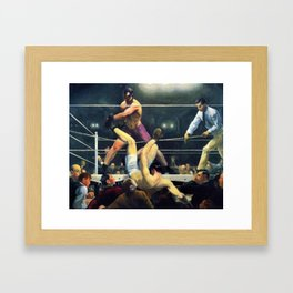 Classical Masterpiece 'Dempsey and Firpo' by George Bellows Framed Art Print