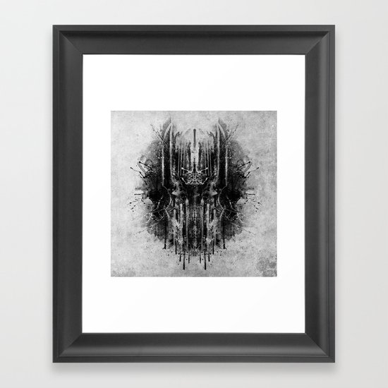 dark thoughts - sauron Framed Art Print