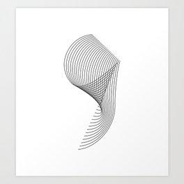 """Linear Collection"" - Minimal Number Nine Print Art Print"