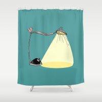 cartoon Shower Curtains featuring CARTOON LAMP by d.ts