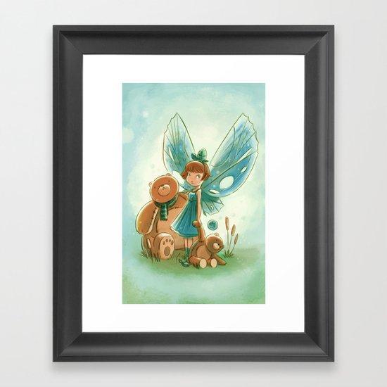 Goblins Drool, Fairies Rule! - Baby Blue Framed Art Print