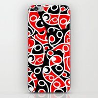 maori iPhone & iPod Skins featuring Maori Kowhaiwhai Patchwork Pattern by mailboxdisco