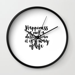 Positive Inspiration Dorm Room Be Happy Inspirational Poster Quote Art Print Life Is Good Positive Wall Clock