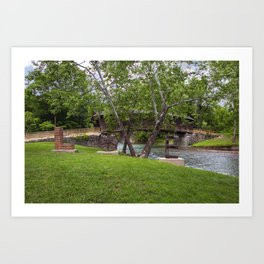 Lovework at the Humpback Bridge Art Print