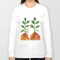 succulents Long Sleeve T-shirts featuring Succulents by Gosia&Helena