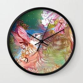 Fairy Hummingbird Wall Clock