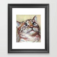 Cat Watercolor Framed Art Print