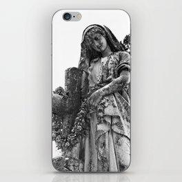 Blessed Virgin Mary Black & White iPhone Skin