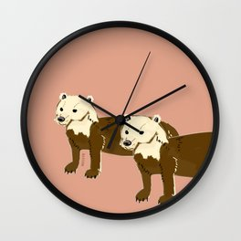 Year of the dog : Speothos bush-dog 1 Wall Clock
