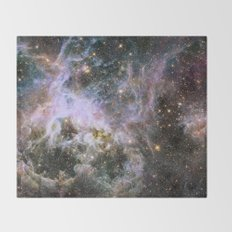 Cosmic Tarantula Nebula (infrared view) Throw Blanket