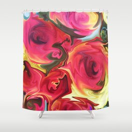 462 - Abstract Flower Bouquet Shower Curtain