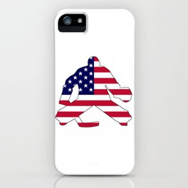 American Flag Goalie iPhone Case