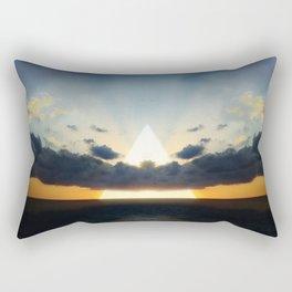 Abstract Environment 03: Volcano Rectangular Pillow