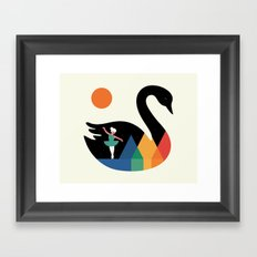 Swan Dance Framed Art Print