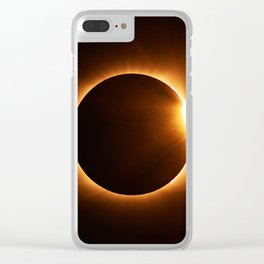 The Eclipse (Color) Clear iPhone Case