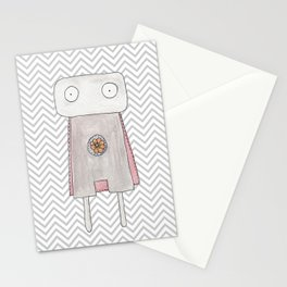Robot superhero Stationery Cards